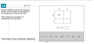 smarter balance test item fourth grade math